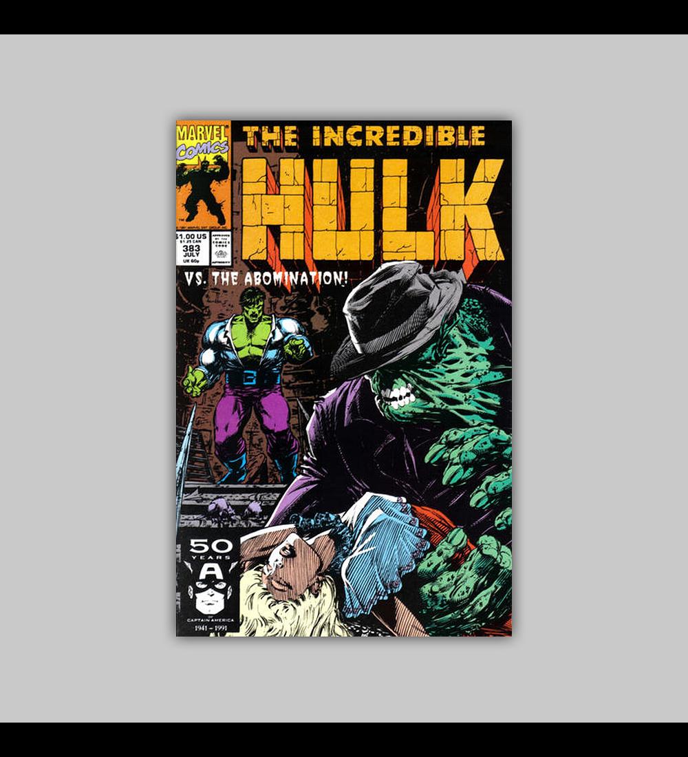 Incredible Hulk 383 1991
