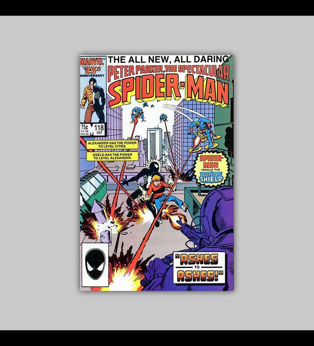 Peter Parker, the Spectacular Spider-Man 118 1986