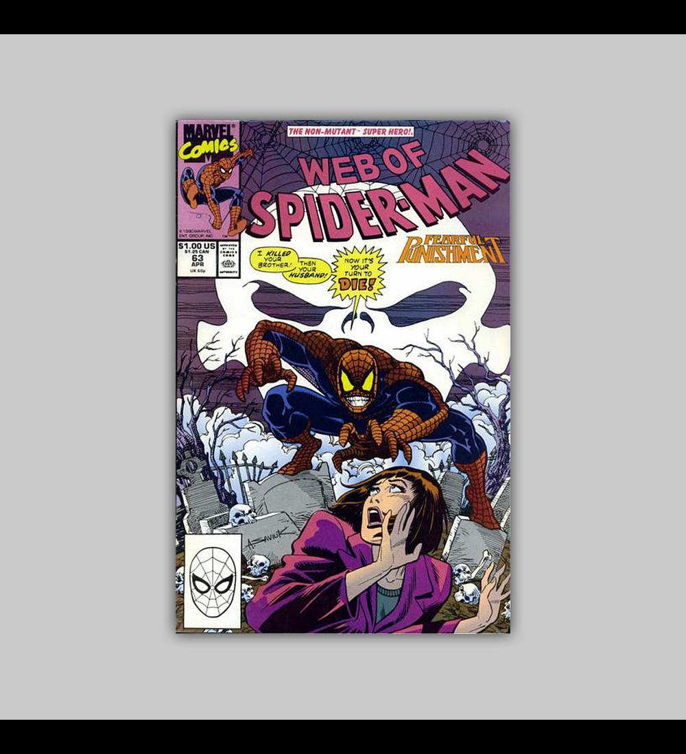 Web of Spider-Man 63 1990