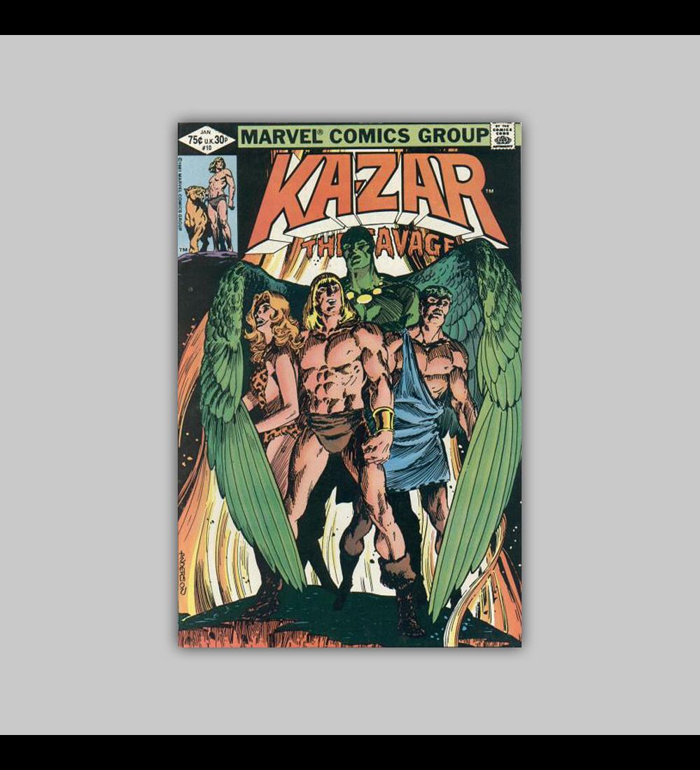 Ka-Zar the Savage 10 1982