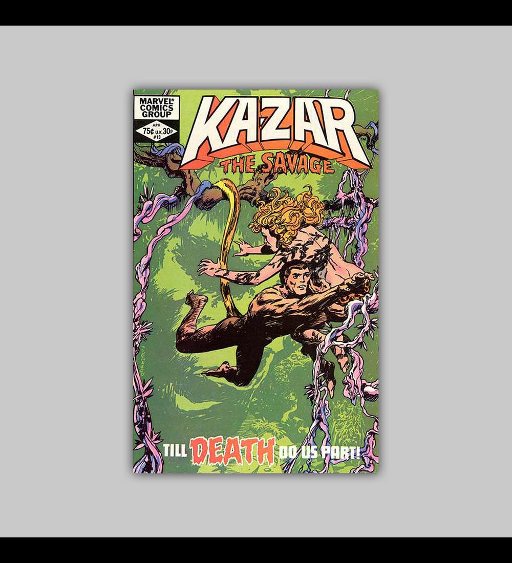 Ka-Zar the Savage 13 1982
