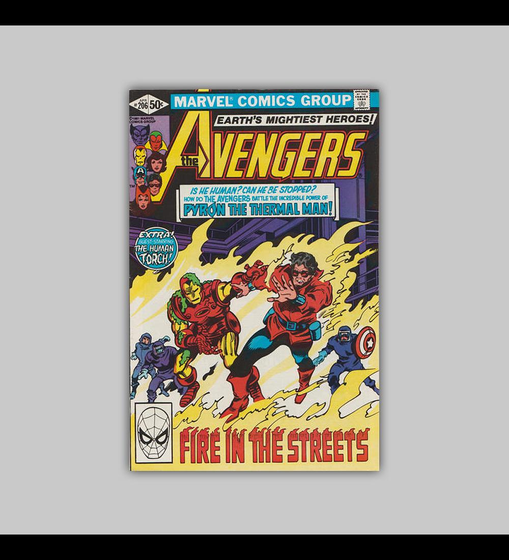 Avengers 206 FN/VF (7.0) 1981