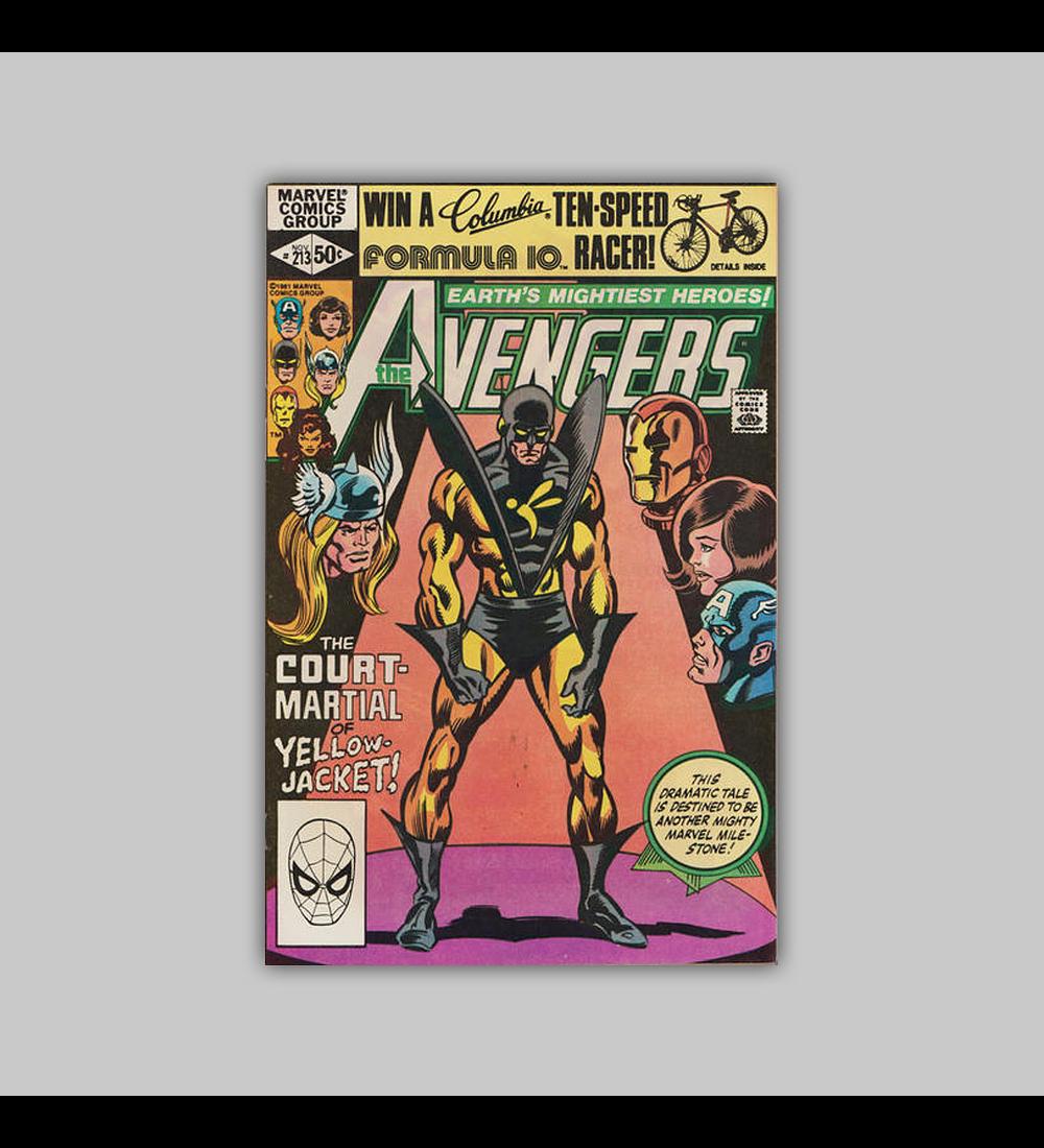 Avengers 213 1981