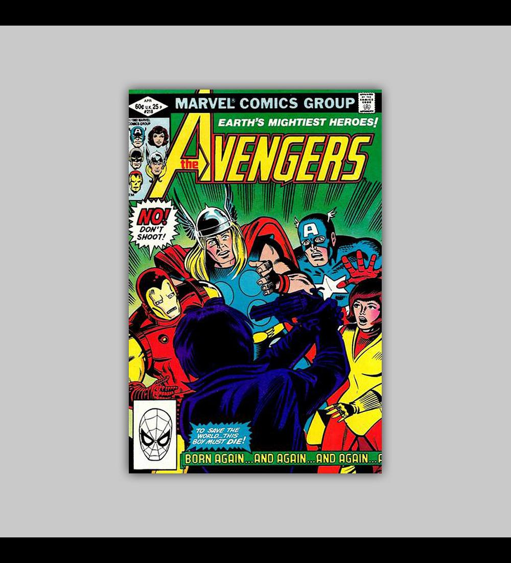 Avengers 218 1982