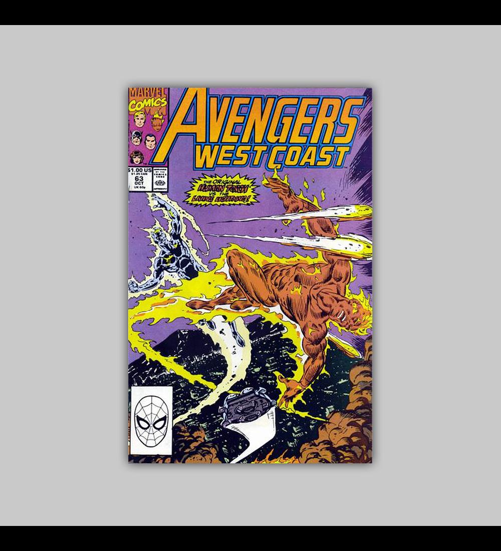 Avengers West Coast 63 1990