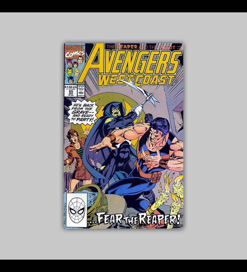 Avengers West Coast 65 1990