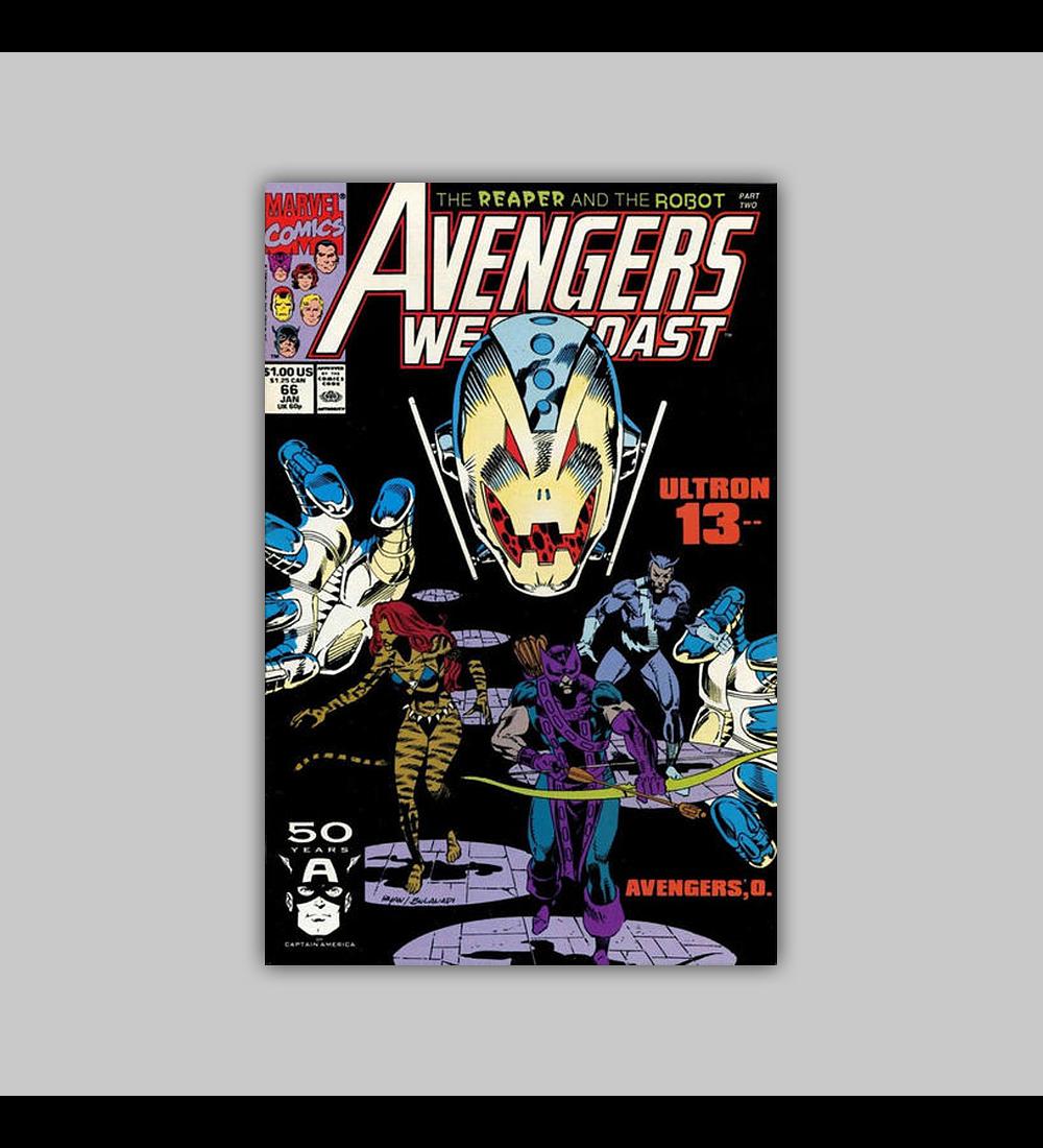 Avengers West Coast 66 1991