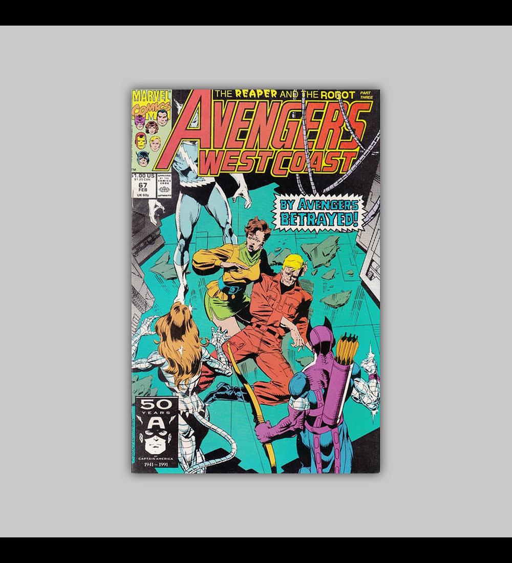 Avengers West Coast 67 1991