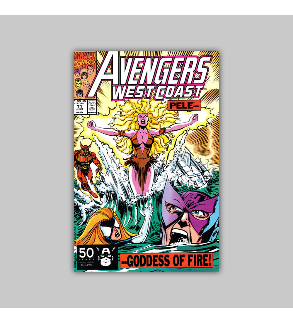 Avengers West Coast 71 1991
