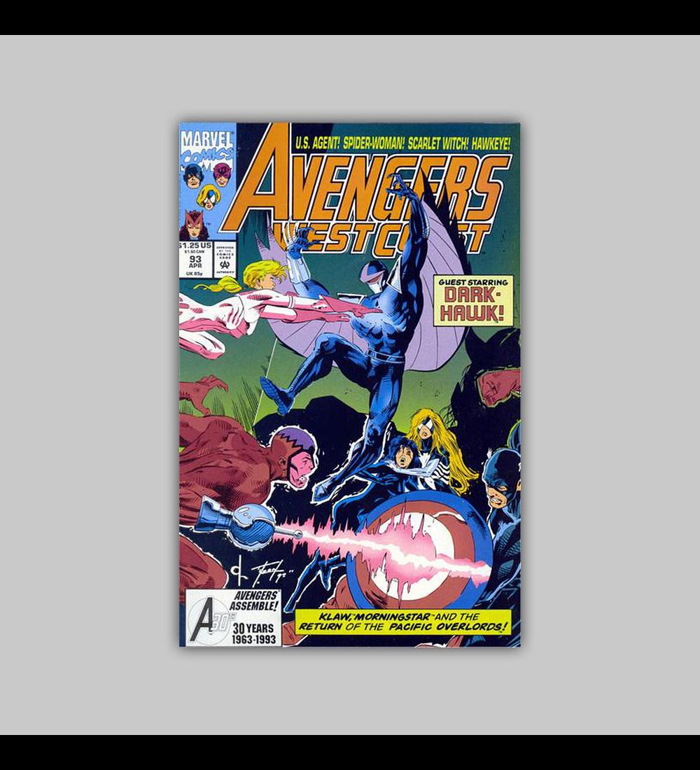 Avengers West Coast (Vol. 2) 93 1993