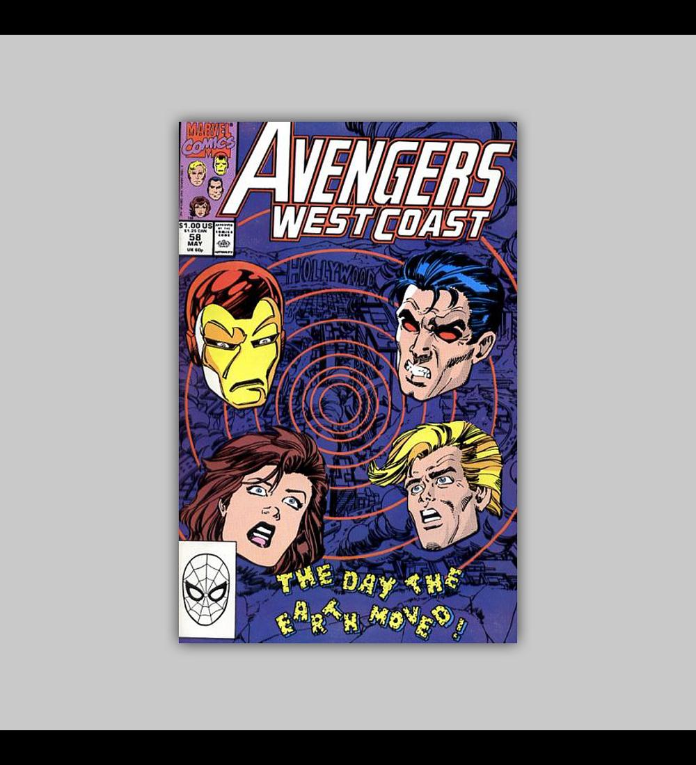 Avengers West Coast 58 1990