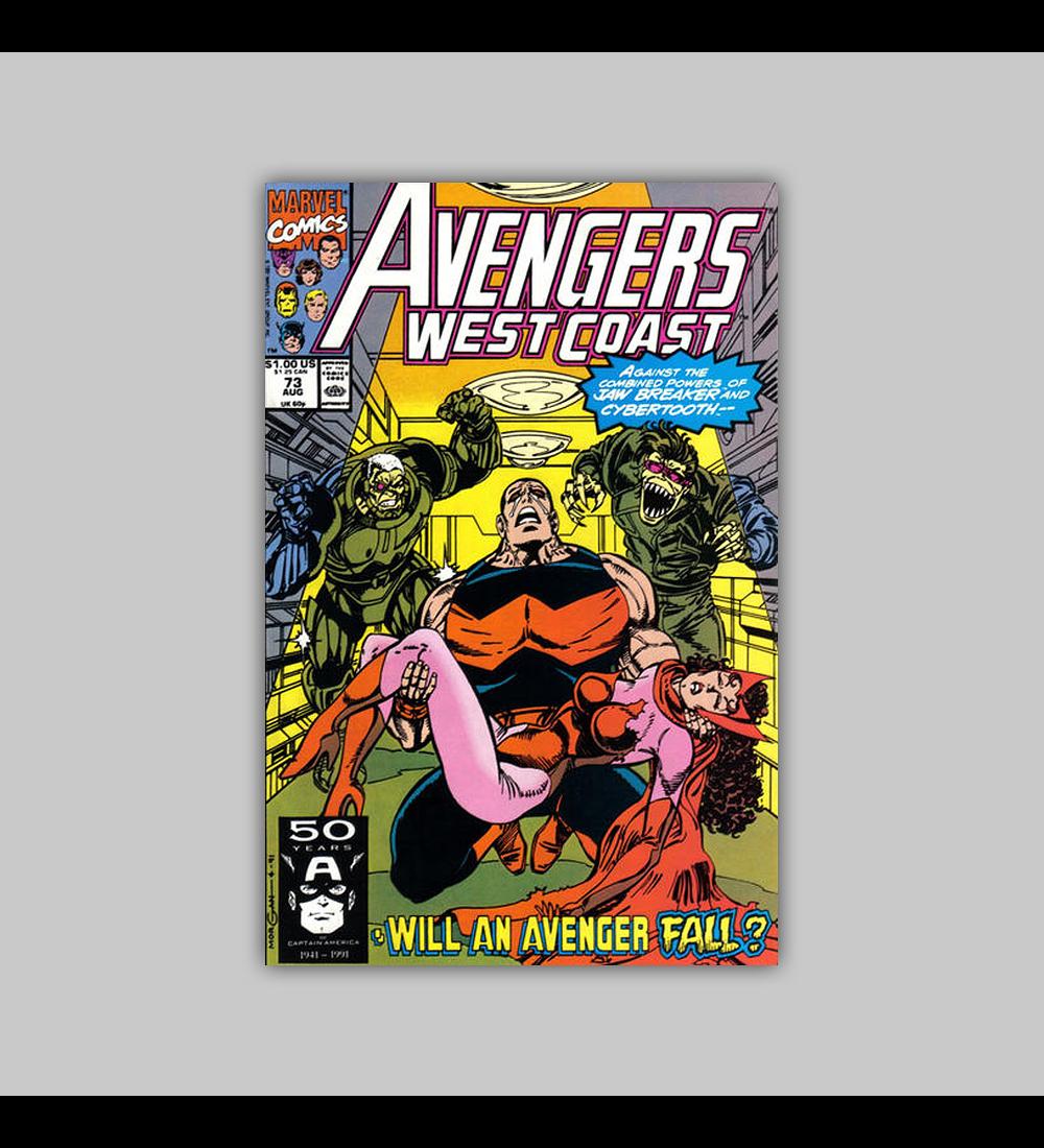 Avengers West Coast 73 1991