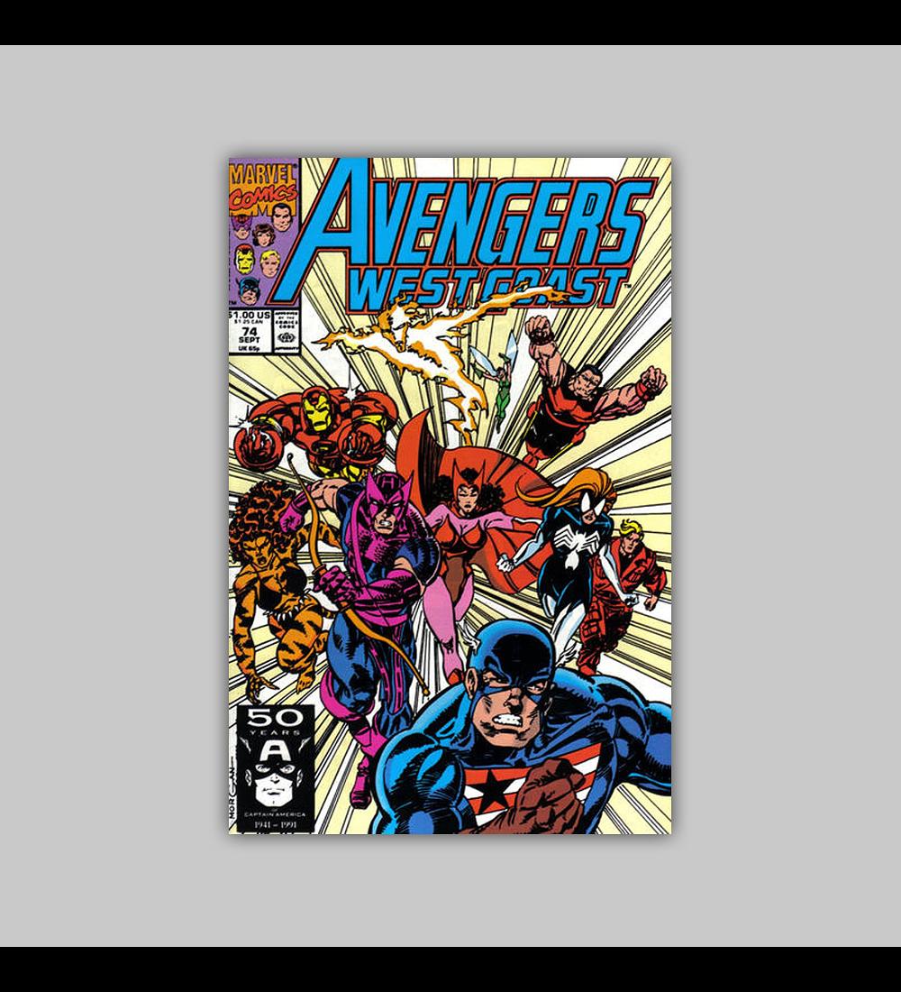 Avengers West Coast 74 1991