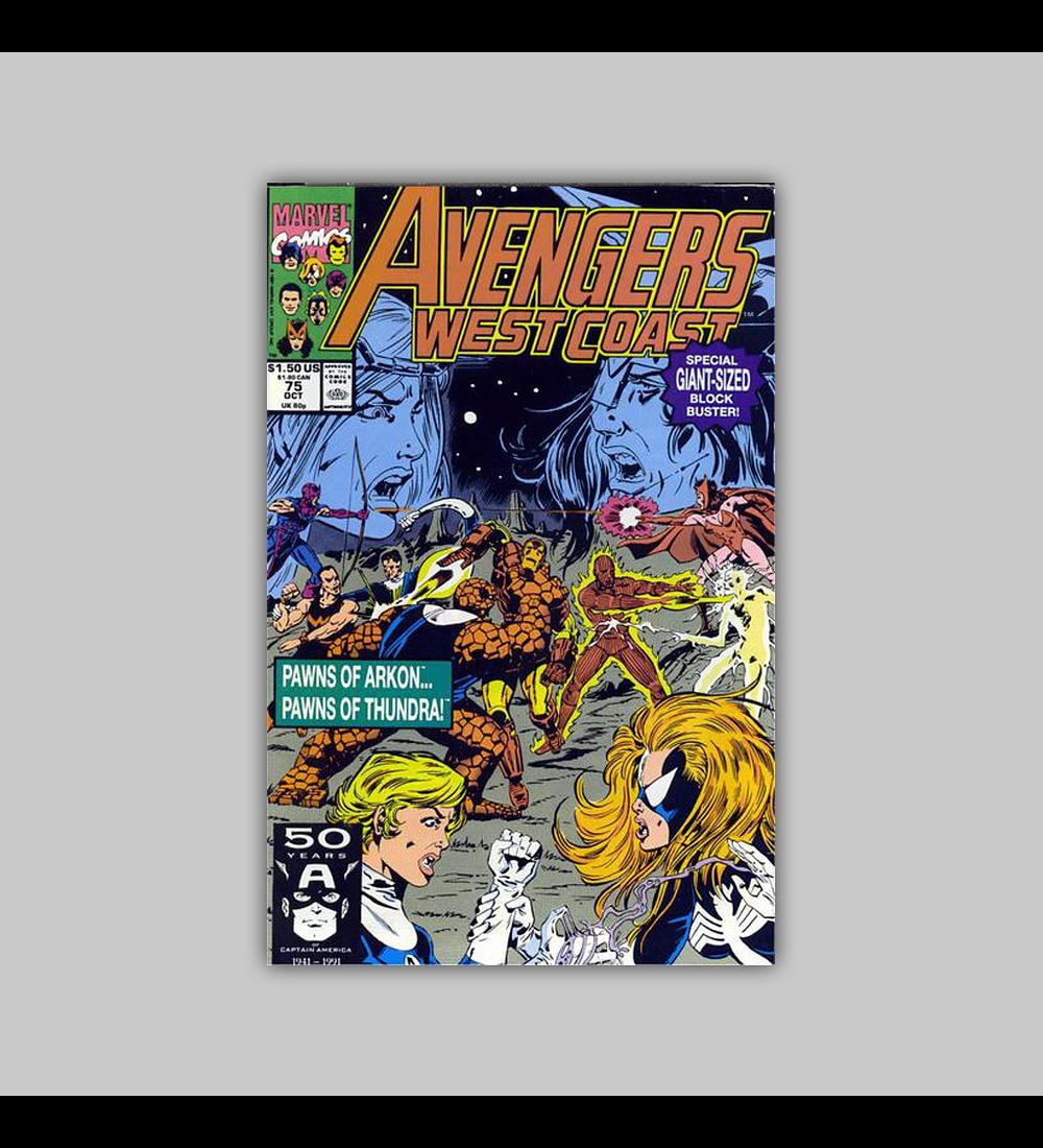 Avengers West Coast 75 1991