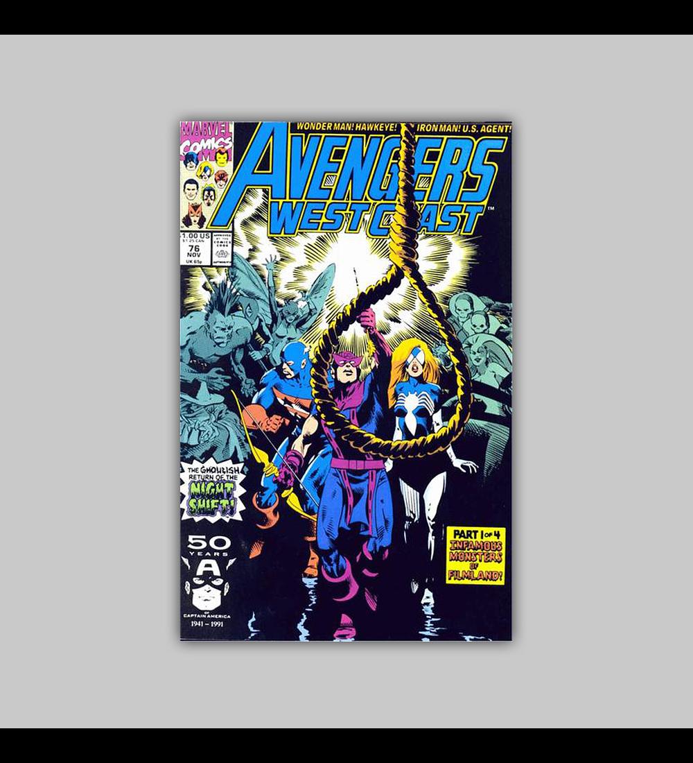 Avengers West Coast (Vol. 2) 76 1991