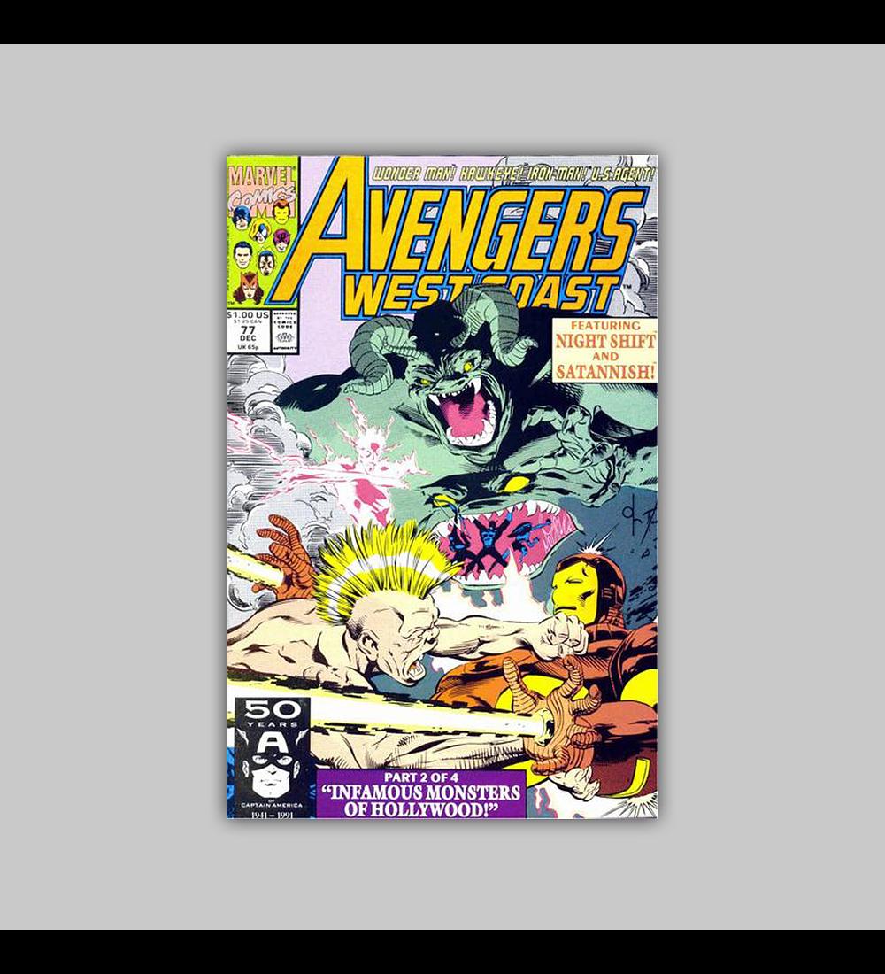 Avengers West Coast 77 1991