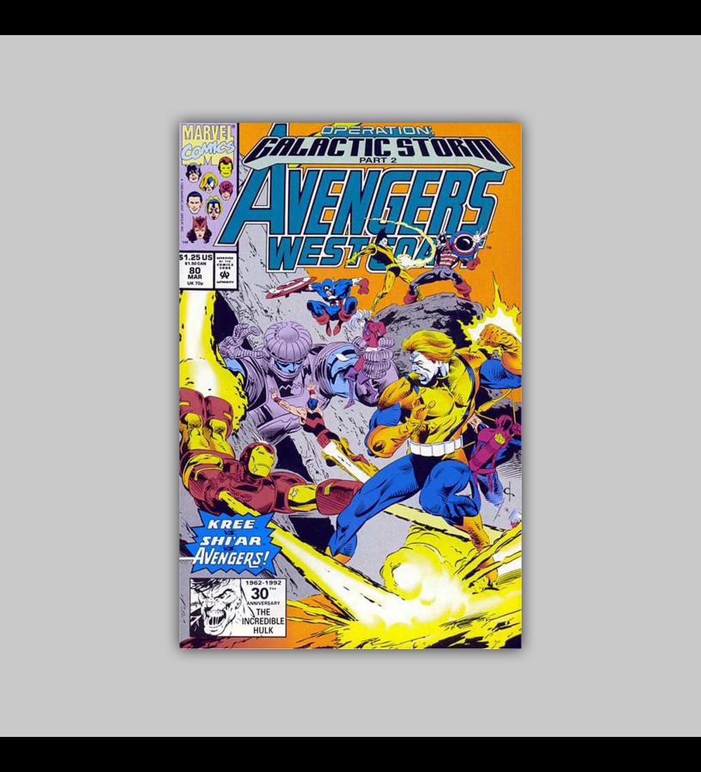 Avengers West Coast 80 1992
