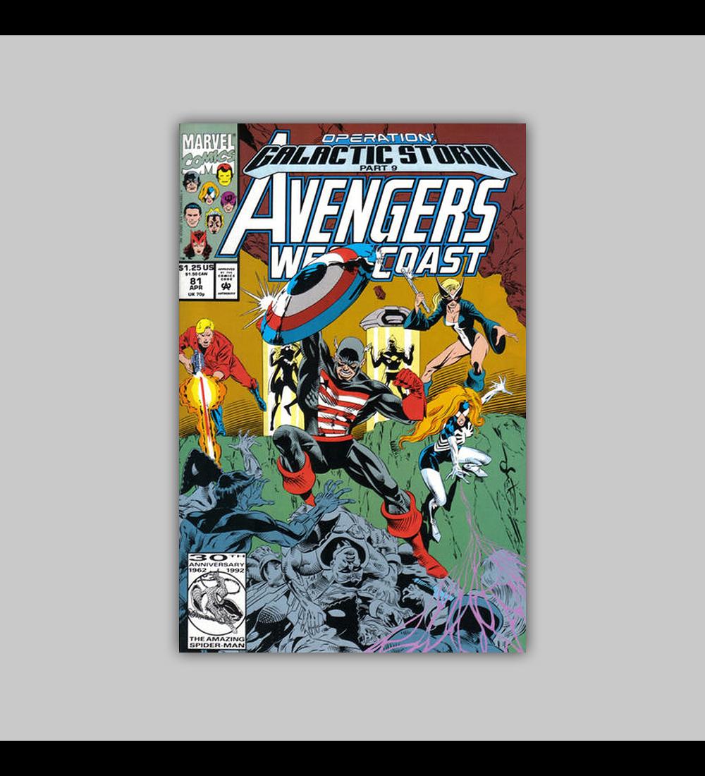 Avengers West Coast 81 1992