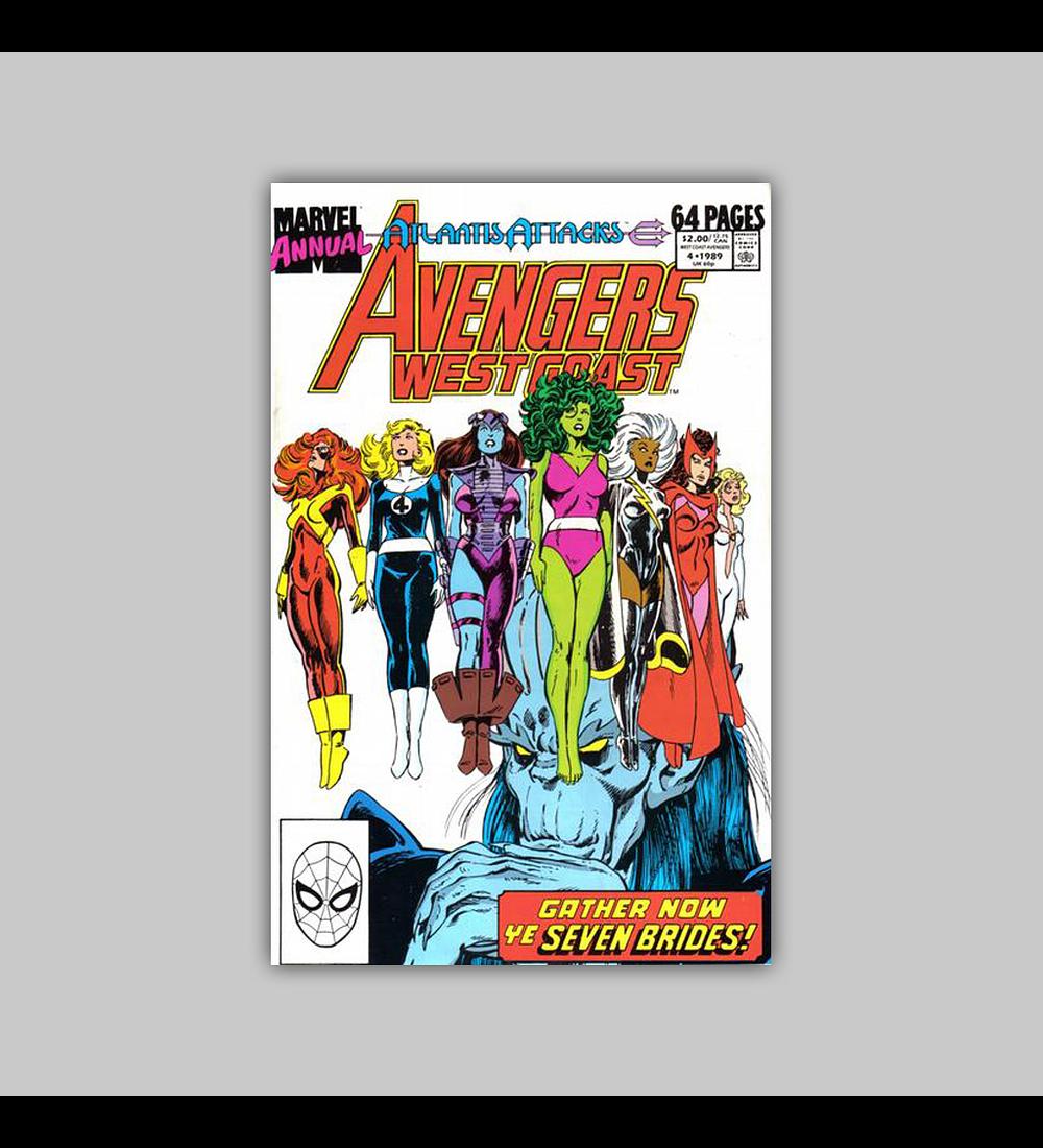 Avengers West Coast Annual 4 1989