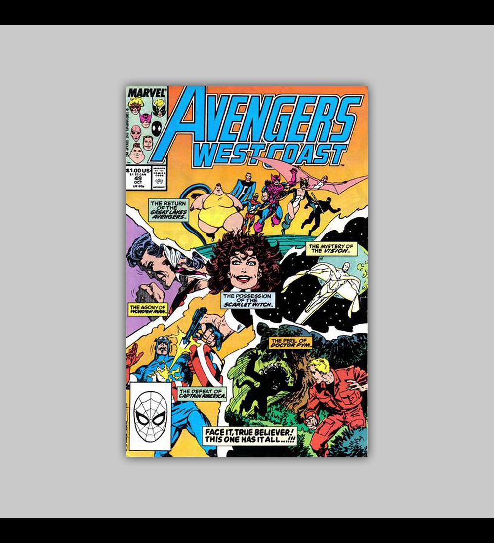 Avengers West Coast 49 1989