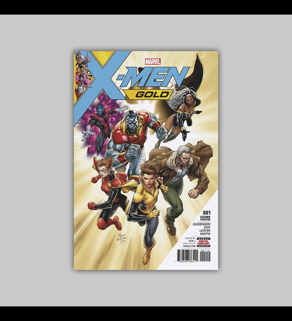 X-Men: Gold 1 2nd printing 2017