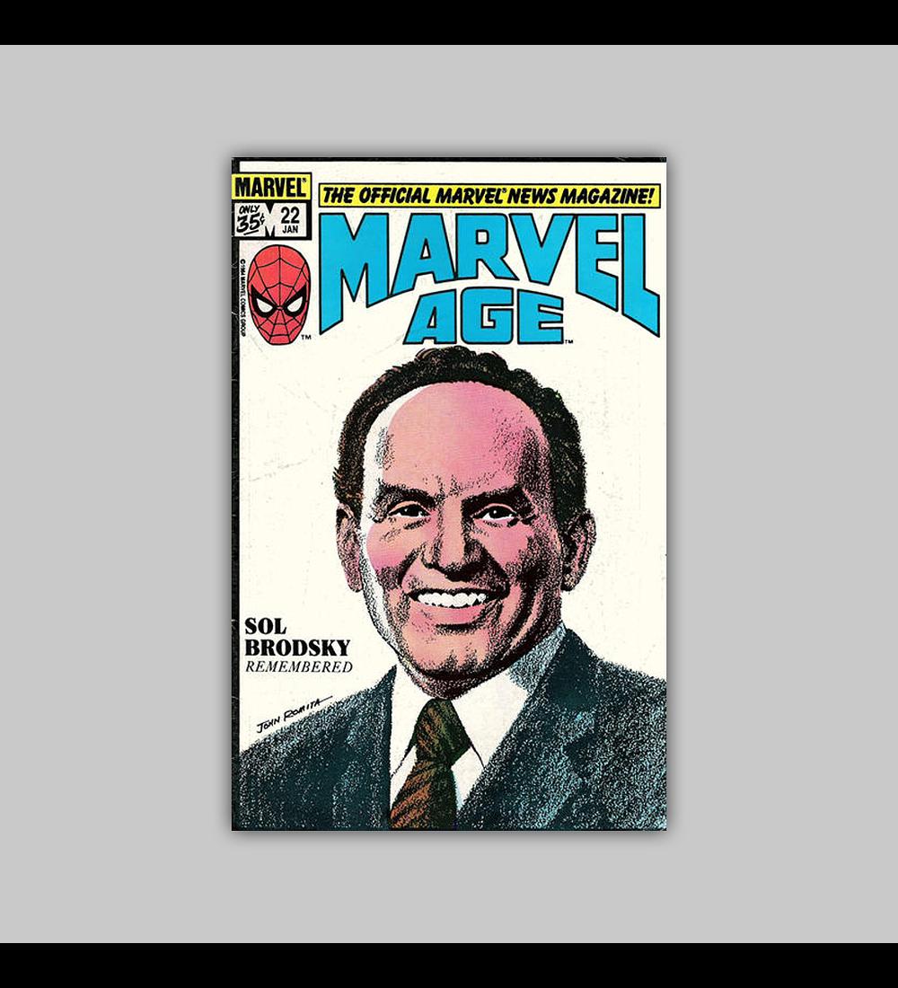 Marvel Age 22 1985