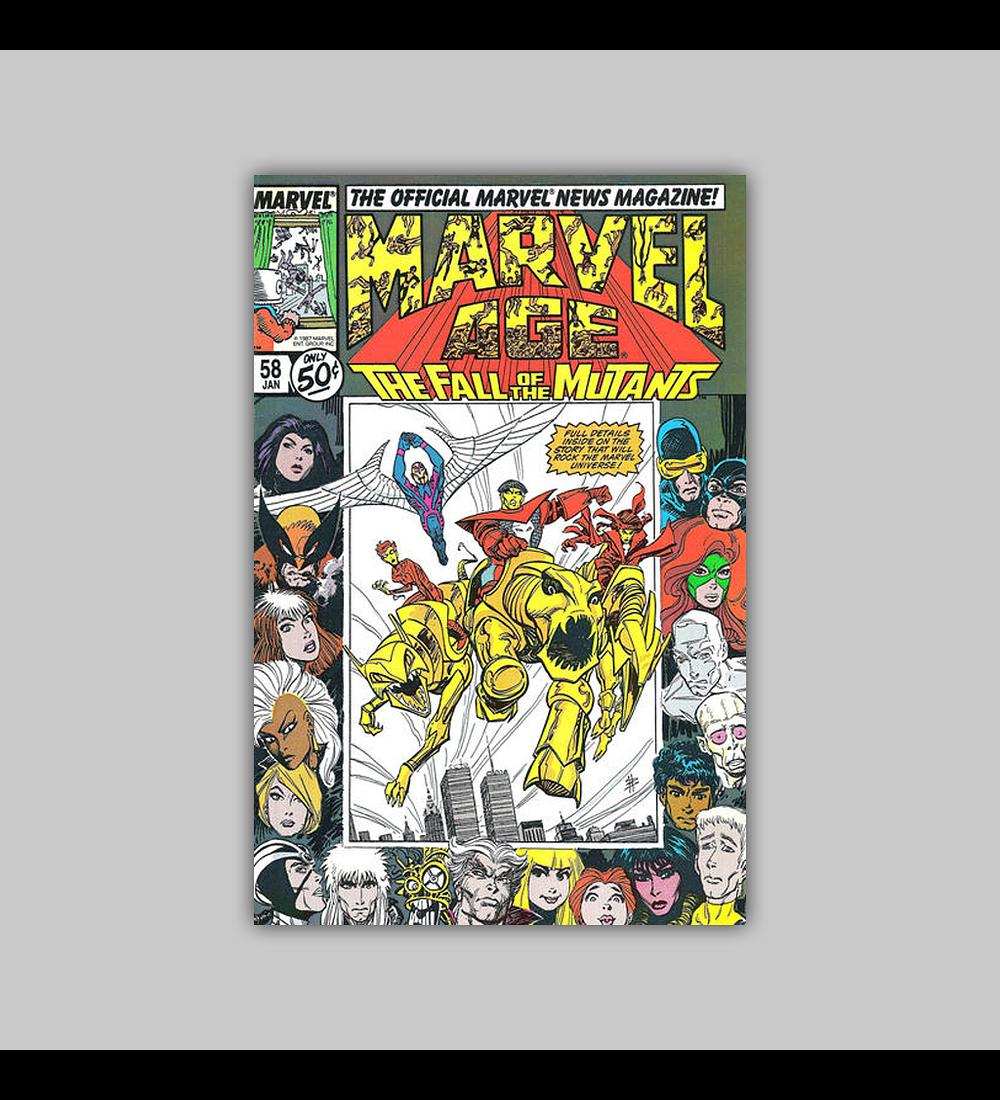 Marvel Age 58 VF (8.0) 1988