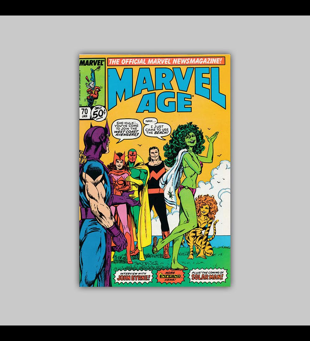 Marvel Age 70 1989