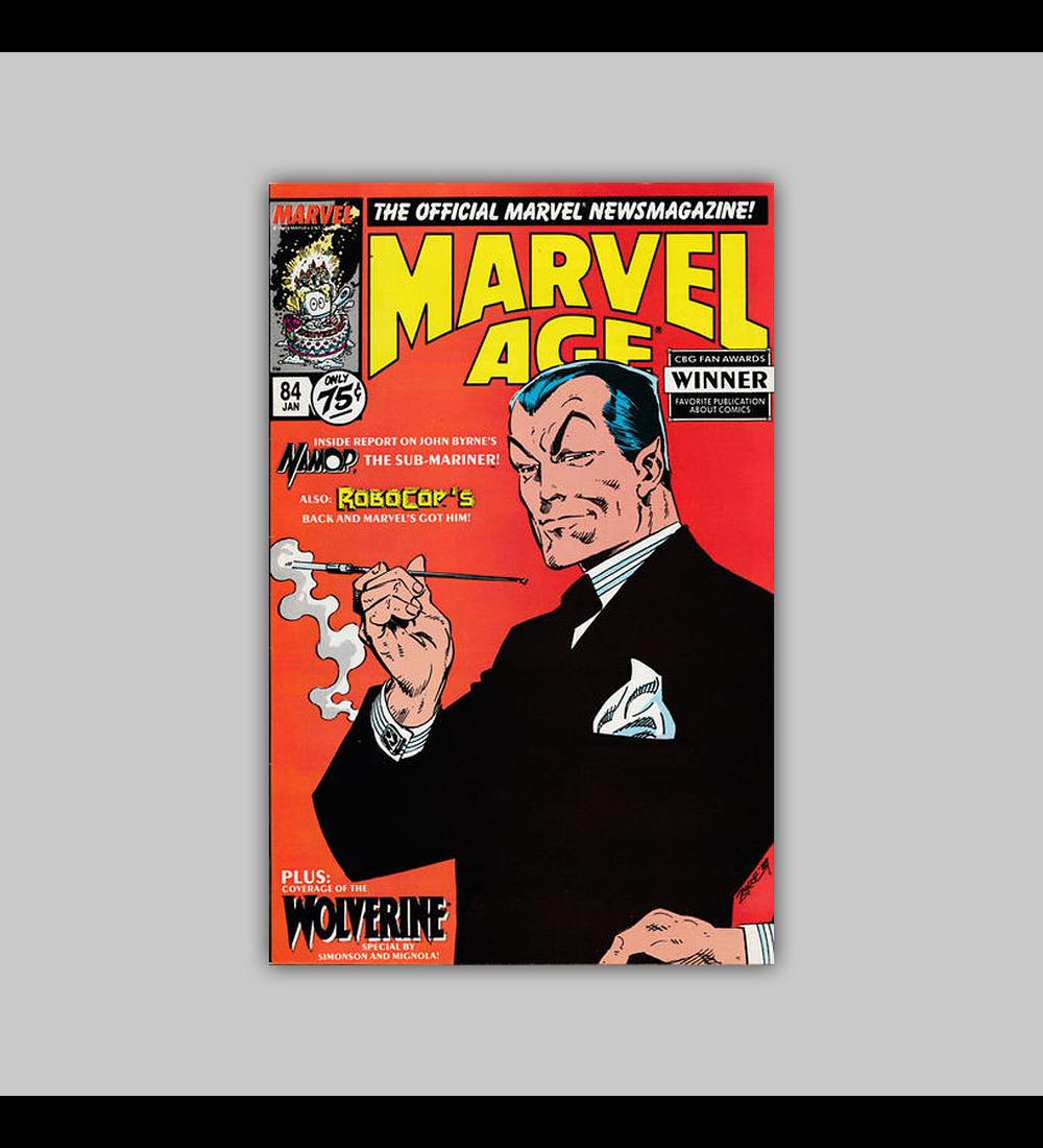 Marvel Age 84 1990