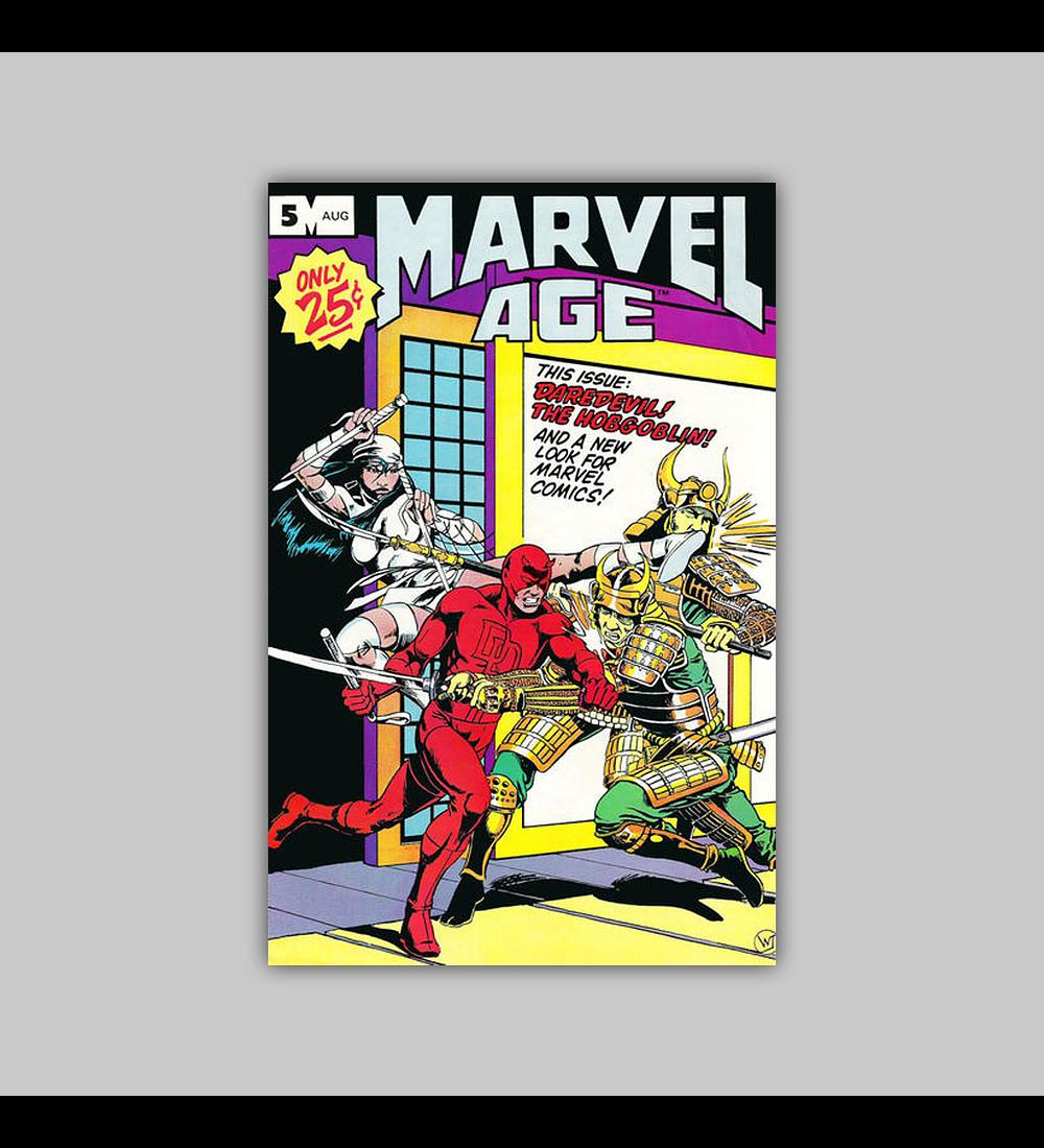 Marvel Age 5 1983