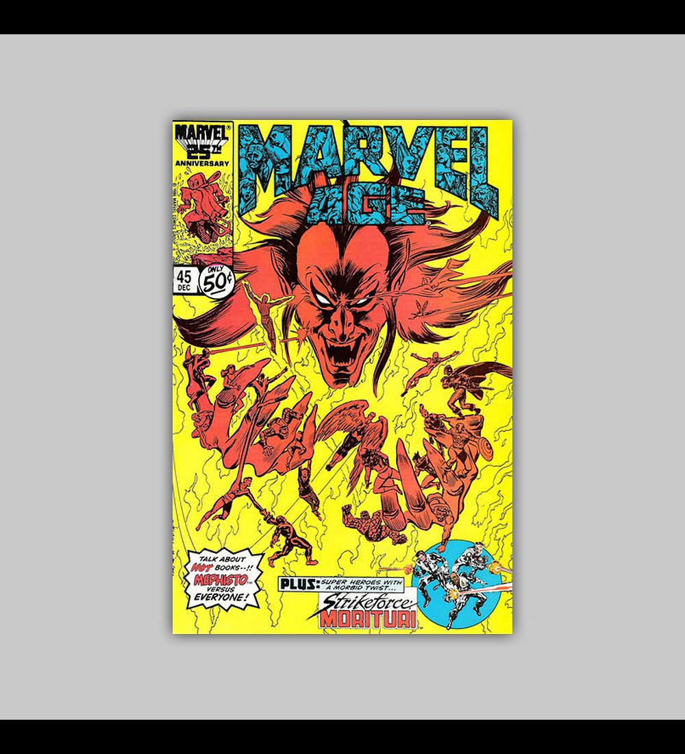 Marvel Age 45 1986