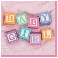 Servilletas Baby Girl Blocks