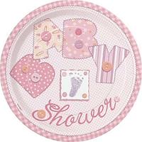 Plato Baby Stitching Rosado