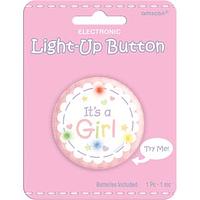 Botón It's a Girl con luz