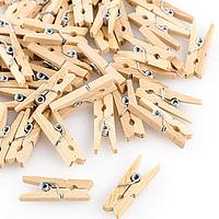 Mini perrritos de madera natural