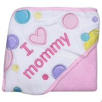 Toalla Capucha I Love Mommy