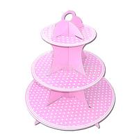Porta Cupcakes Dots Rosa