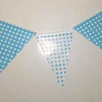 Banderín Dots Celeste