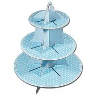 Porta Cupcakes Dots Celeste