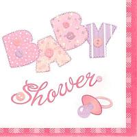 Servilletas Baby Stitching Rosa
