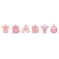 Banner Baby Stitching Rosado