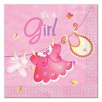 Servilletas Pink Clothesline