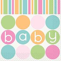 Servilletas Pastel Baby Shower
