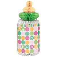 Centro de mesa mamadera Pastel Baby Shower