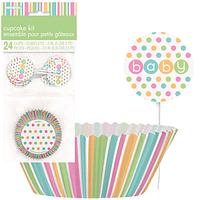 Wraps de Cupcakes Pastel Baby Shower