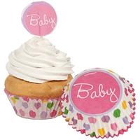 Wraps de Cupcake & Picks Dots Rosa