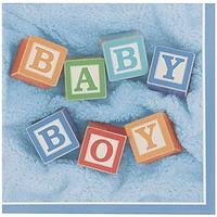 Servilletas Baby Boy Blocks
