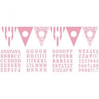 Banderín para personalizar rosa