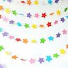 Guirnalda Estrellas 3D Colores Pastel
