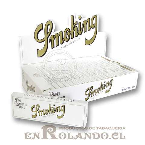 Papelillos Smoking White #9 - 1 1/4 - Display